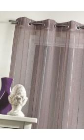 Voilage en étamine tissée à rayures verticales