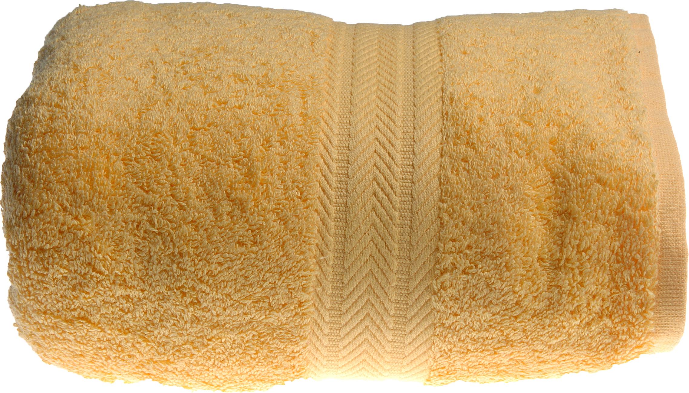 Serviette de toilette 50 x 100 cm en Coton couleur Bouton d'or (Bouton D'Or)