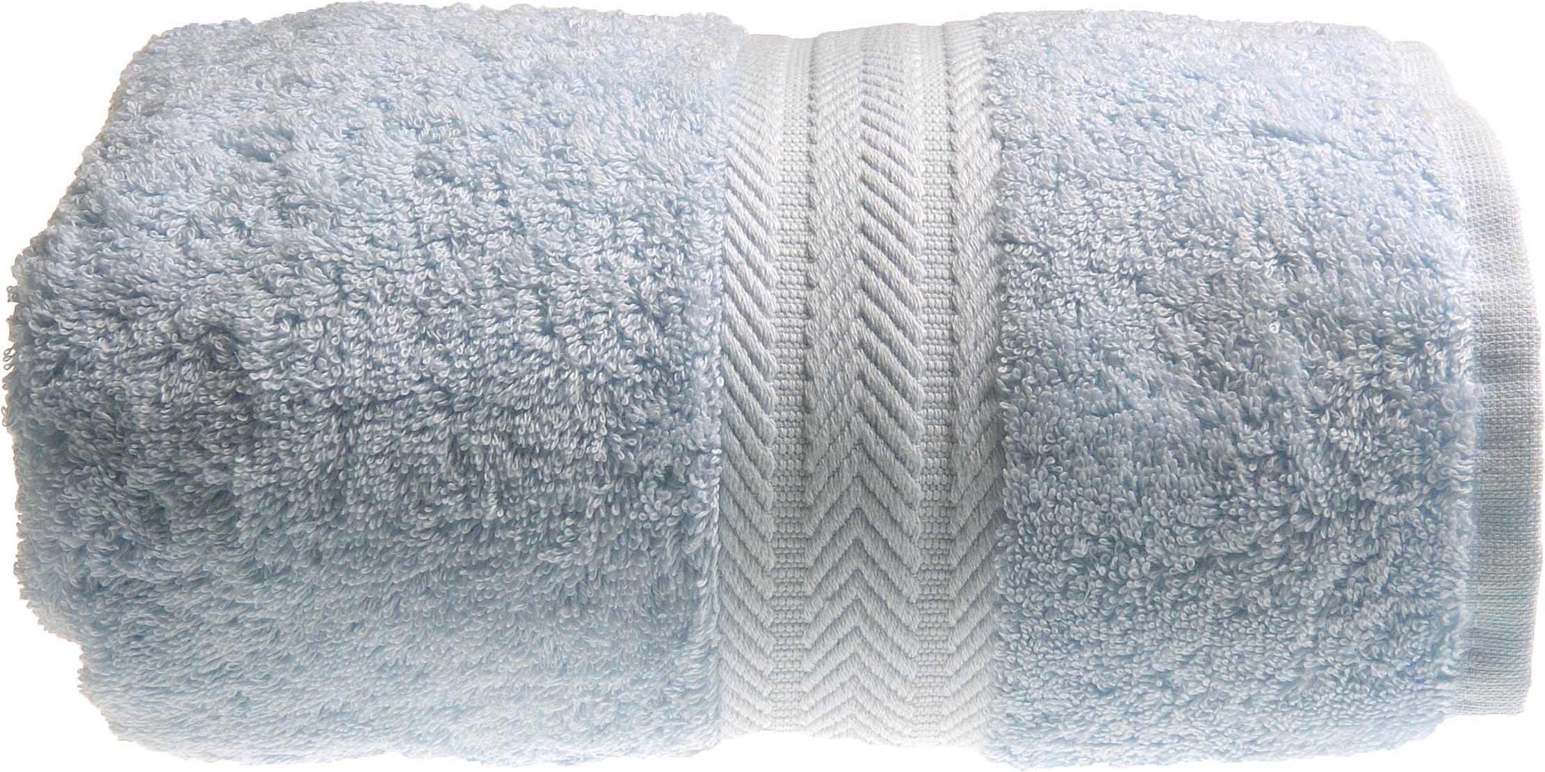 Serviette de toilette 50 x 100 cm en Coton couleur Ciel (Ciel)