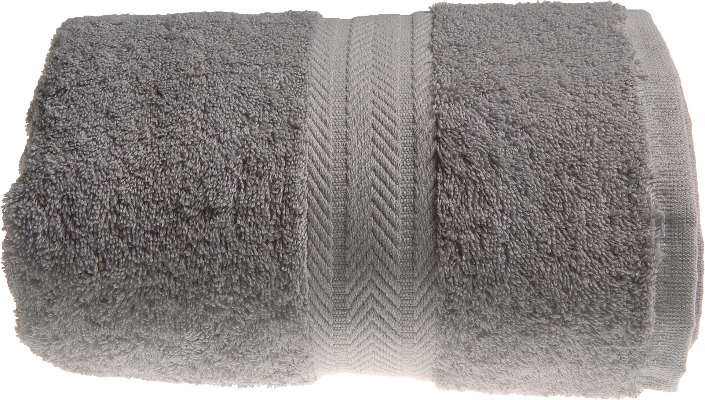 serviette de toilette 50 x 100 cm en coton couleur gris. Black Bedroom Furniture Sets. Home Design Ideas