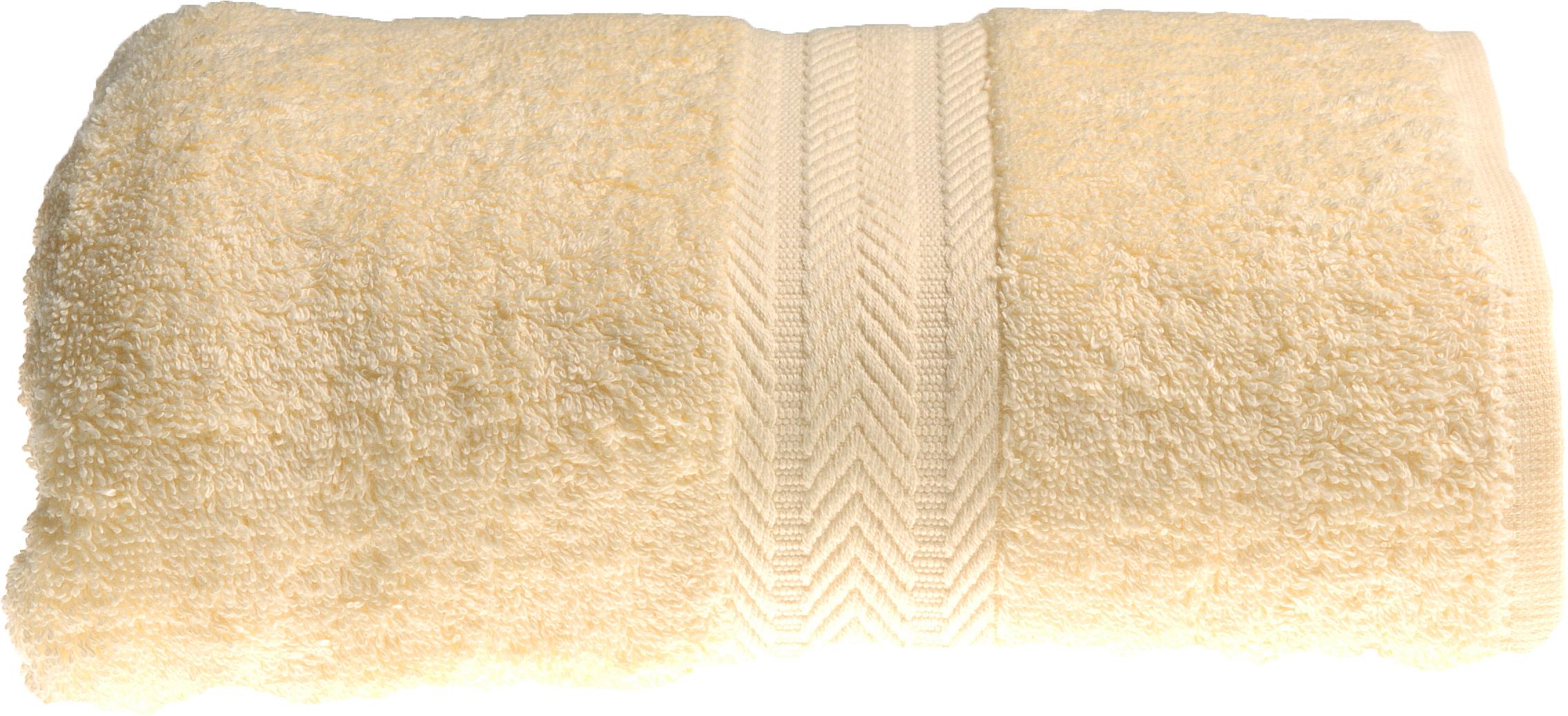Serviette de toilette 50 x 100 cm en Coton couleur Jaune (Jaune)