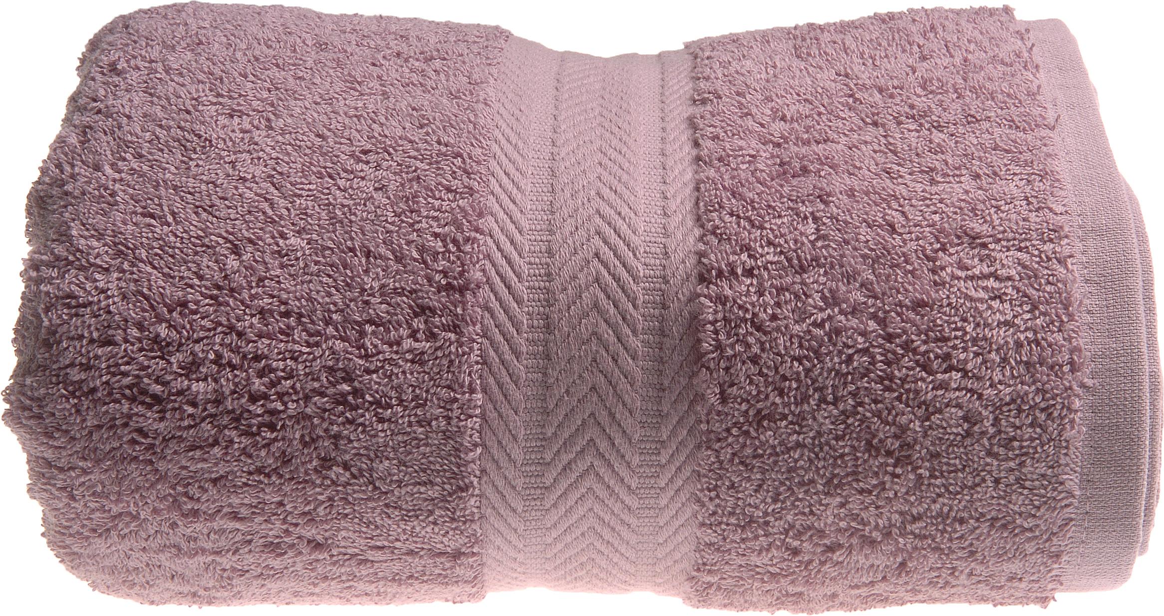 Serviette de toilette 50 x 100 cm en Coton couleur Mûre (Mûre)