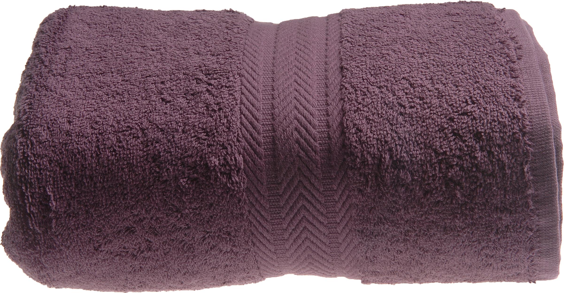 Serviette de toilette 50 x 100 cm en Coton couleur Myrtille (Myrtille)