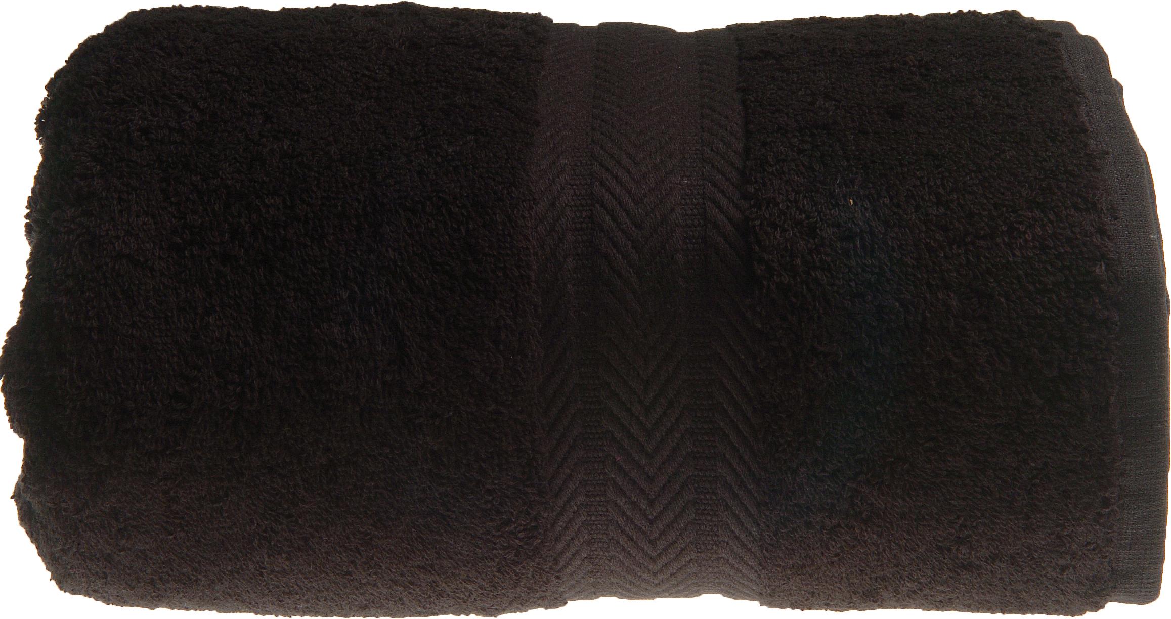 Serviette De Toilette 50 X 100 Cm En Coton Couleur Noir Noir