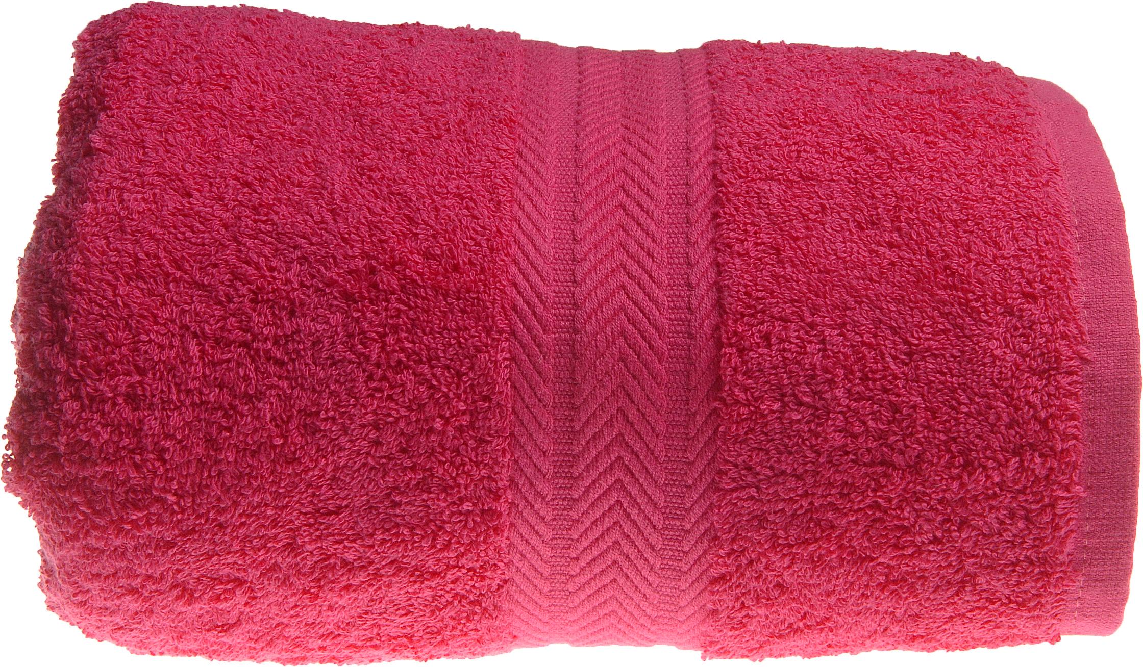 Serviette de toilette 50 x 100 cm en Coton couleur Rose indien (Rose Indien)