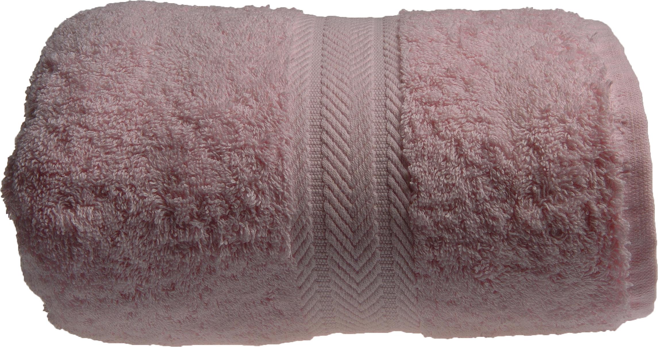 Serviette de toilette 50 x 100 cm en Coton couleur Rose (Rose)