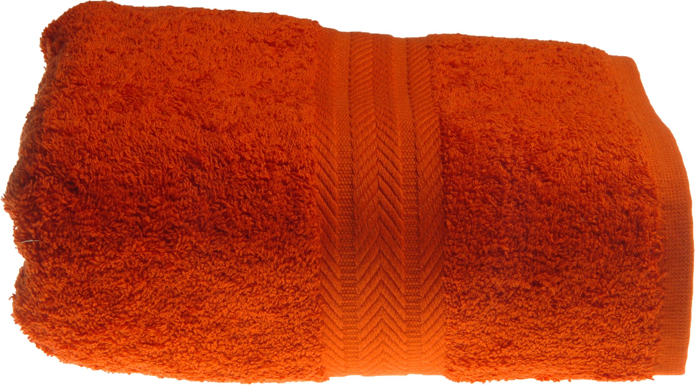 Serviette de toilette 50 x 100 cm en Coton couleur Terracota (Terracota)