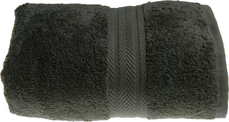 Serviette invitée 30 x 50 cm en Coton couleur Anthracite (Anthracite)