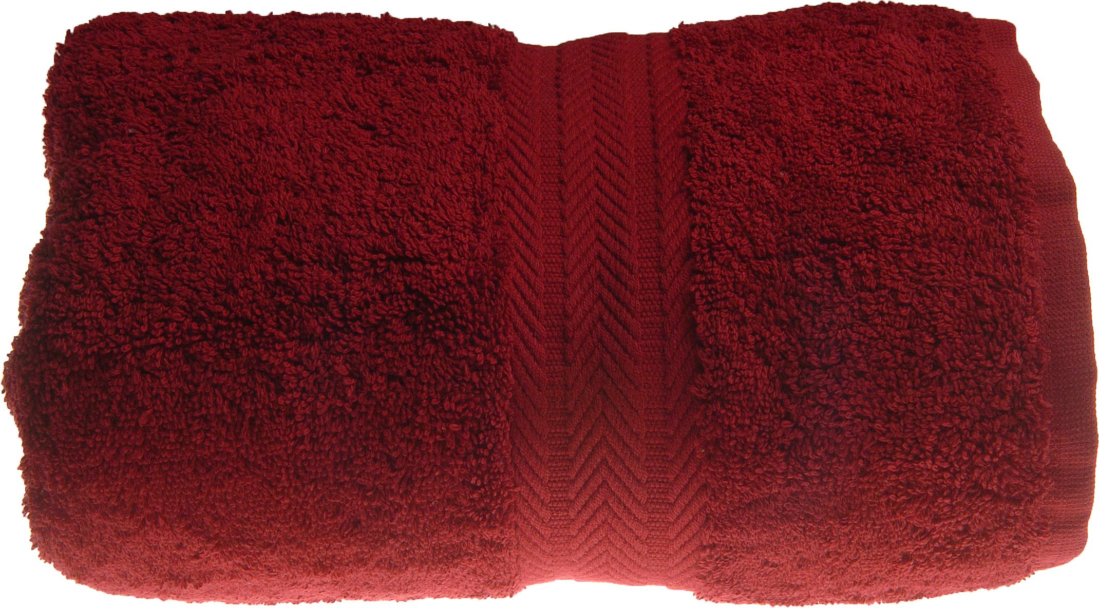 Serviette invitée 30 x 50 cm en Coton couleur Bordeaux (Bordeaux)