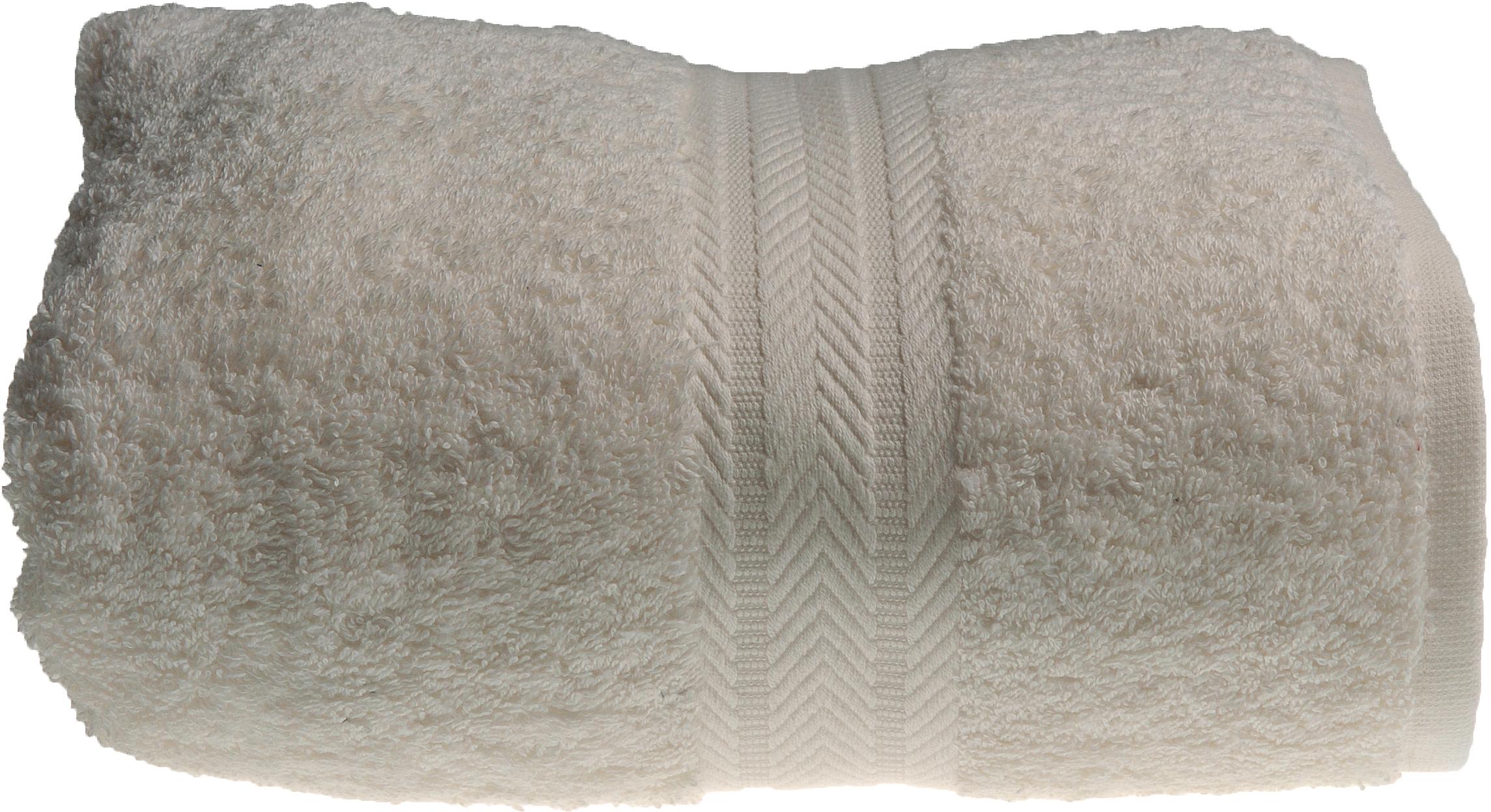Serviette invitée 30 x 50 cm en Coton couleur Ecru (Ecru)