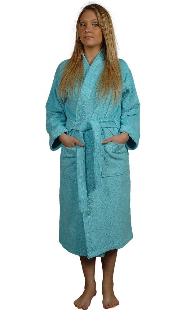 Peignoir M Bleu Turquoise - Bleu Turquoise - M