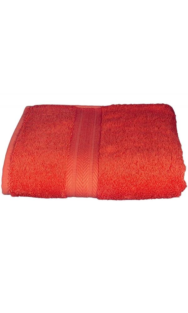 Serviette invitée 30 x 50 cm en Coton couleur Corail (Corail)