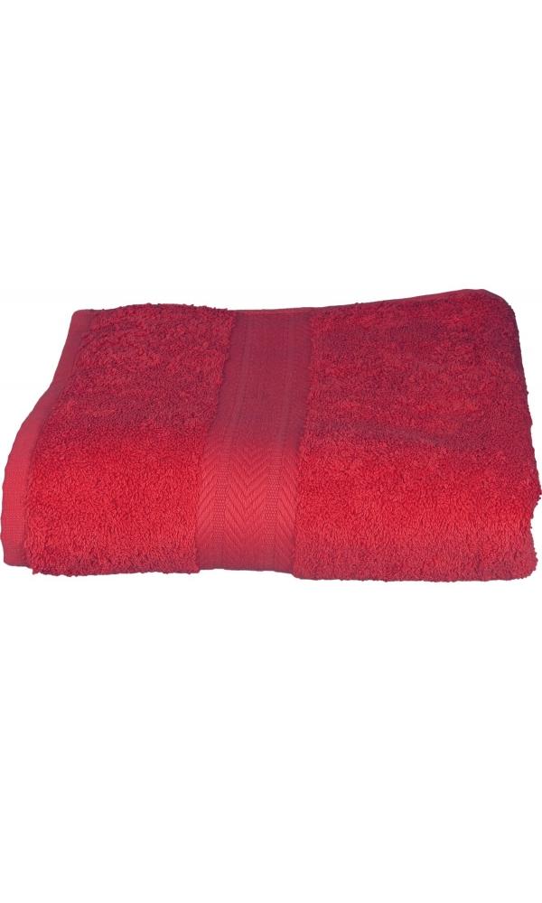 Drap de bain 100 x 150 cm en Coton couleur Framboise