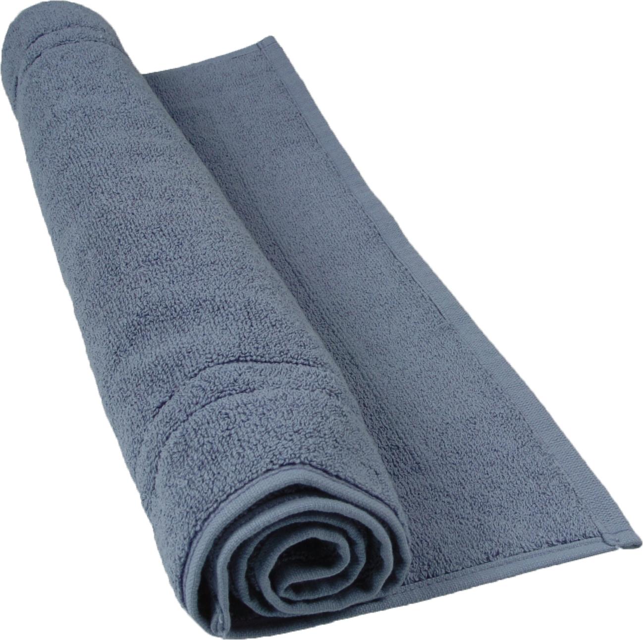 Tapis de bain 50 x 80 cm en Coton couleur Bleu jean (Bleu Jean)