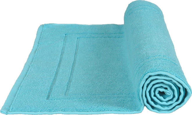 tapis de bain 50 x 80 cm en coton couleur bleu turquoise. Black Bedroom Furniture Sets. Home Design Ideas
