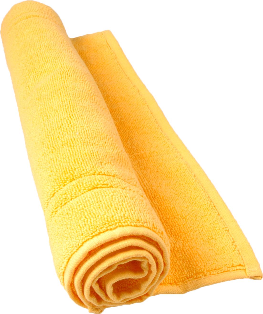 Tapis de bain 50 x 80 cm en Coton couleur Bouton d'or (Bouton D'Or)