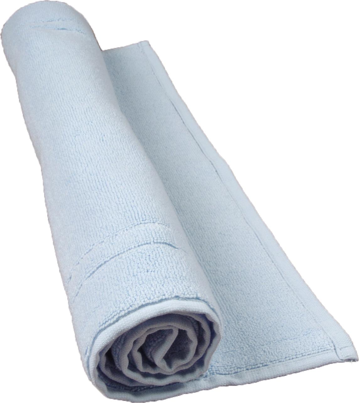 Tapis de bain 50 x 80 cm en Coton couleur Ciel (Ciel)