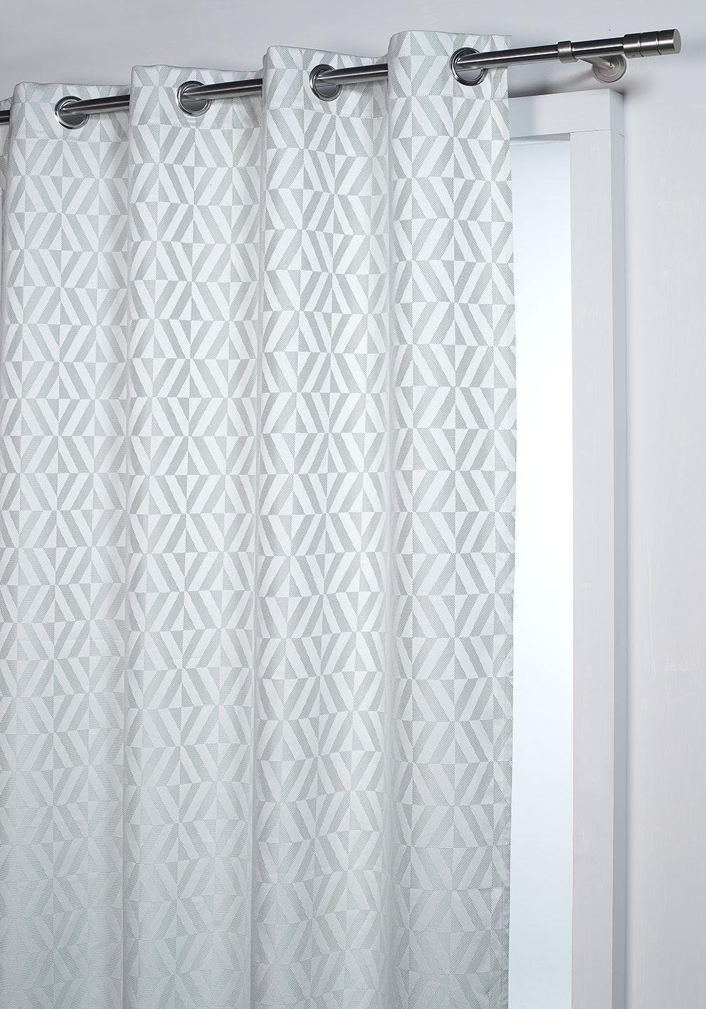 rideau d ameublement formes g om triques aqua homemaison vente en ligne rideaux. Black Bedroom Furniture Sets. Home Design Ideas
