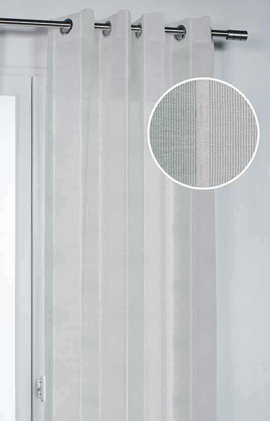 Voilage avec Jeux de Rayures - Vert - 140 x 260 cm