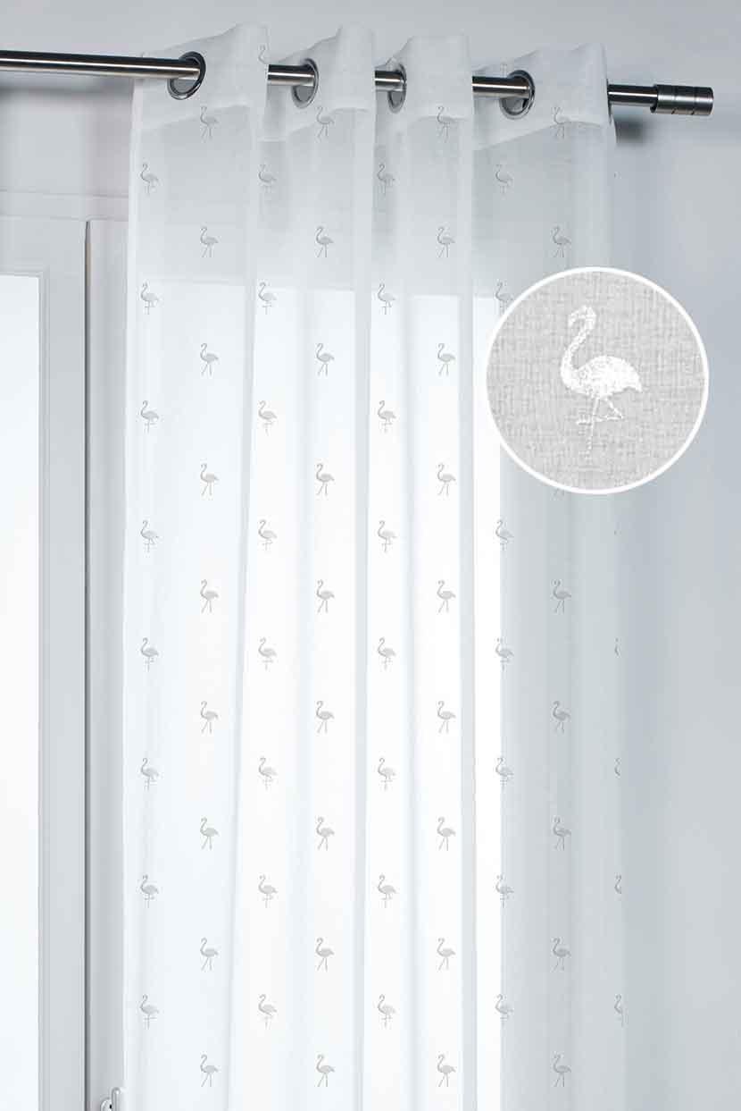 voilage imprim flamand blanc homemaison vente en. Black Bedroom Furniture Sets. Home Design Ideas