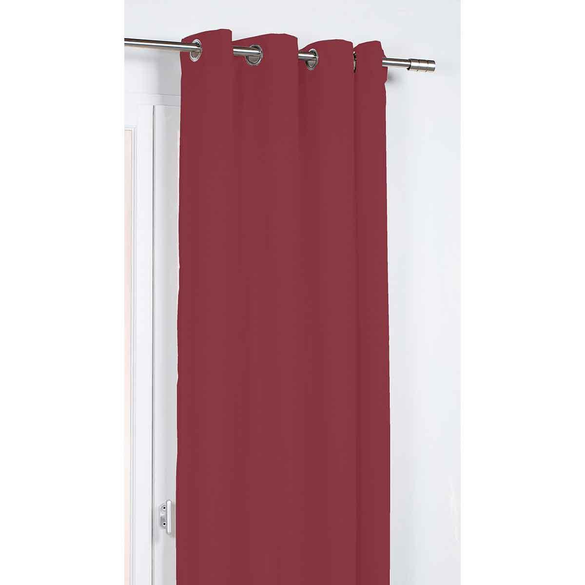 Rideau Occultant et Phonique/Thermique - Rouge - 135 x 260 cm