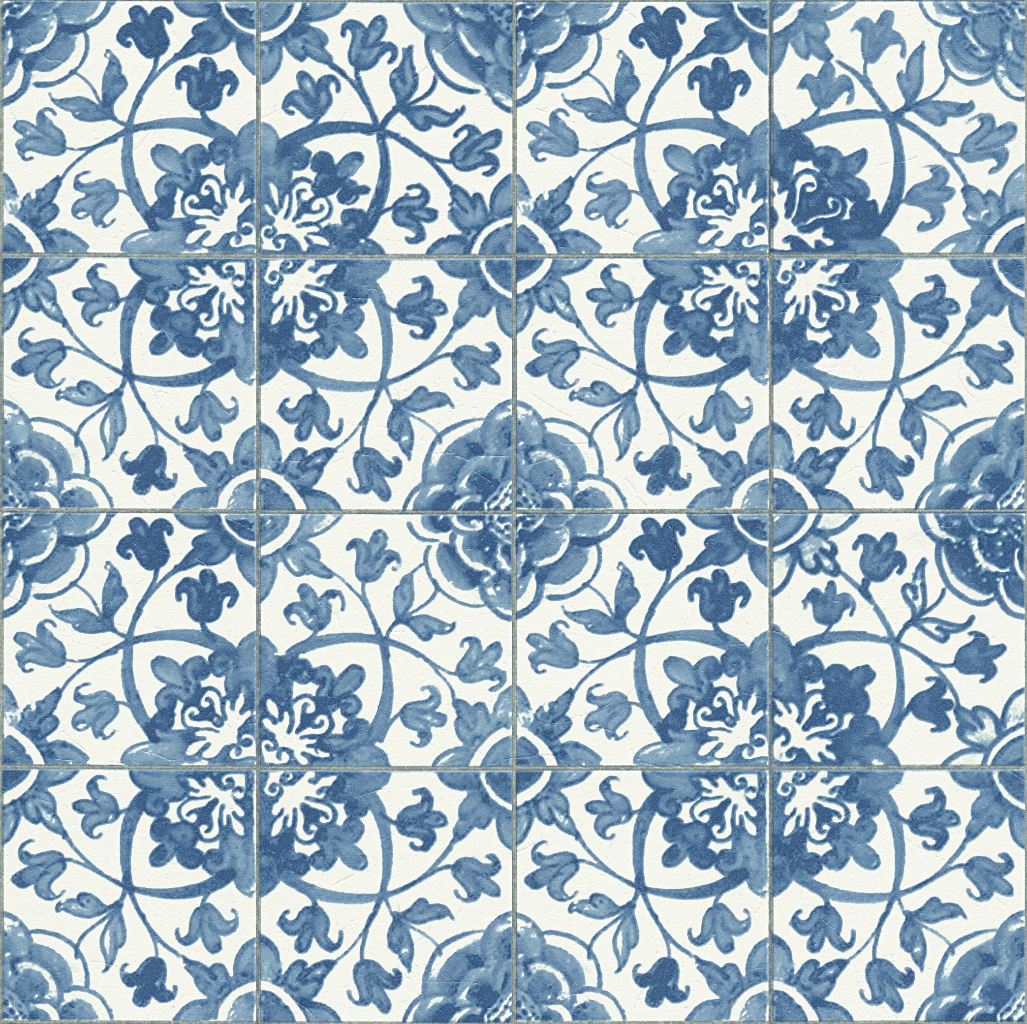 papier peint mosaique bleu blanc homemaison. Black Bedroom Furniture Sets. Home Design Ideas