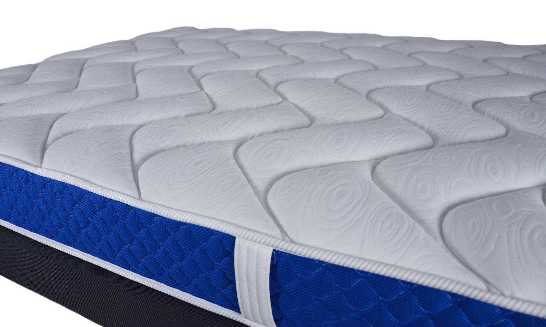 Matelas bleu royal m moire de forme 18 cm d epaisseur blanc homemaison - Matelas a memoir de forme ...