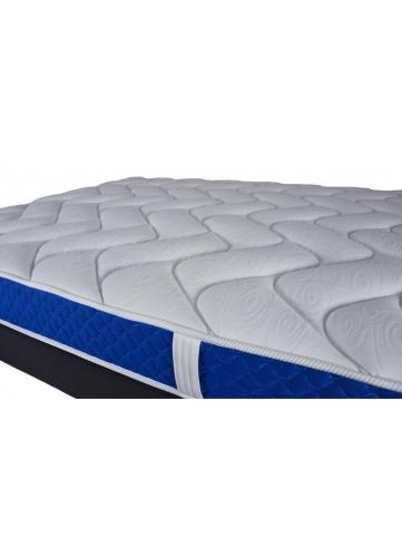 Matelas Bleu Royal à Mémoire de Forme 18 cm d'Epaisseur (Blanc)