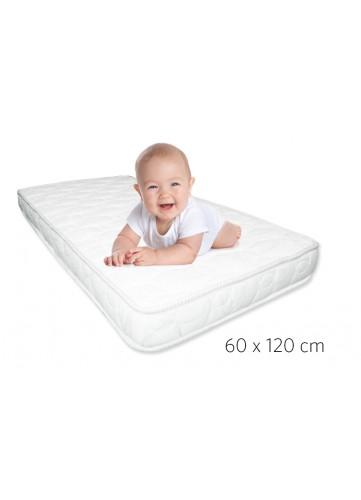 Matelas Enfant Ergo Baby à Faces Climatiques (Blanc)