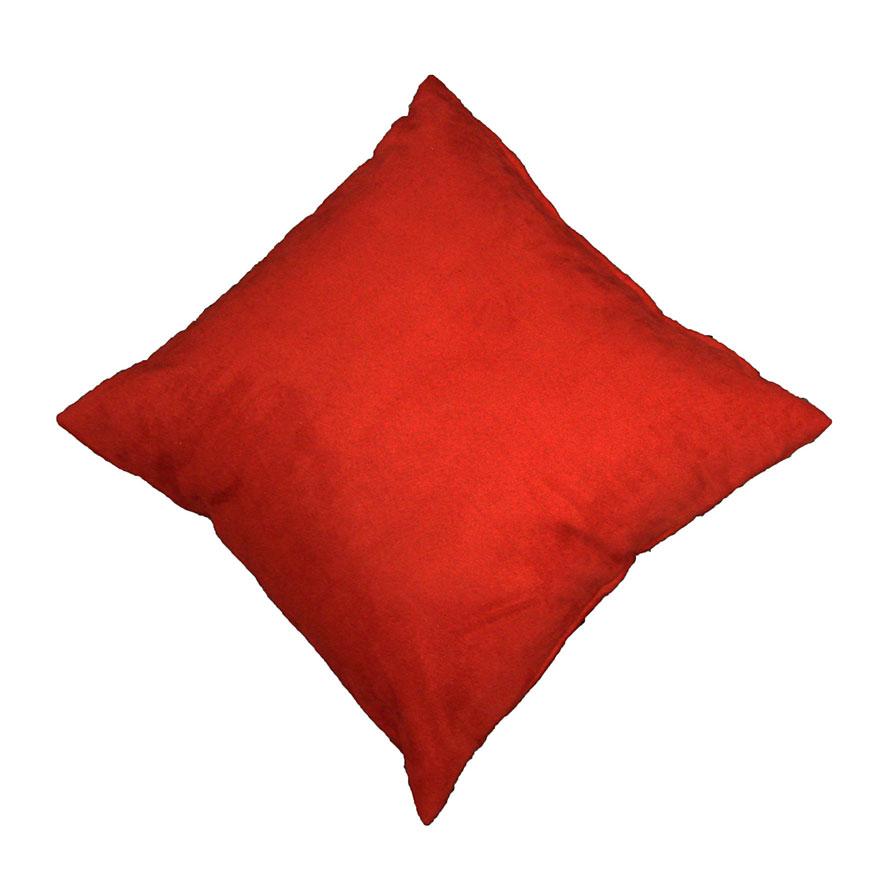 Coussin en Suédine Unie  (Rouge)
