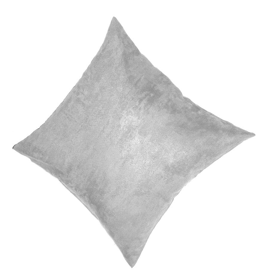 Coussin en Suédine Unie - Gris clair - 45 x 45 cm