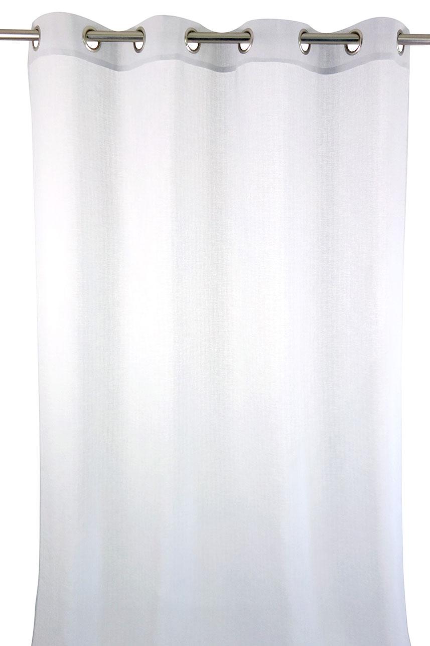 Voilage avec Effet Tissage - Blanc - 140 x 270 cm