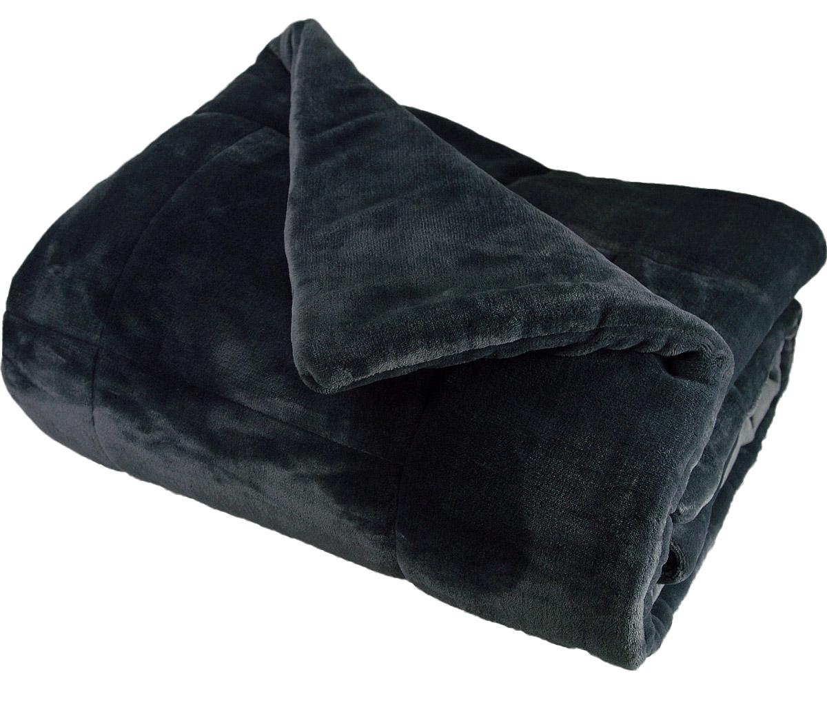 couvre lit matelass douceur polaire silver grey indigo ficelle rubis homemaison. Black Bedroom Furniture Sets. Home Design Ideas