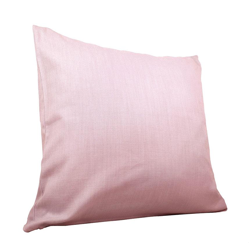 Coussin Uni en Coton lourd - Rose - 60 x 60 cm