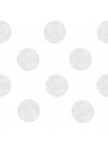Toile Cirée en PVC Imprimé Pois Argent Platine