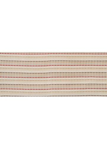 Rideau Jacquard avec Rayures de Pois - Beige - 135 x 260 cm