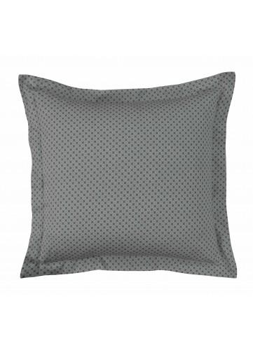 Lot de 2 Taies d'oreiller Imprimé Géométrique - Gris Perle - 63x63cm