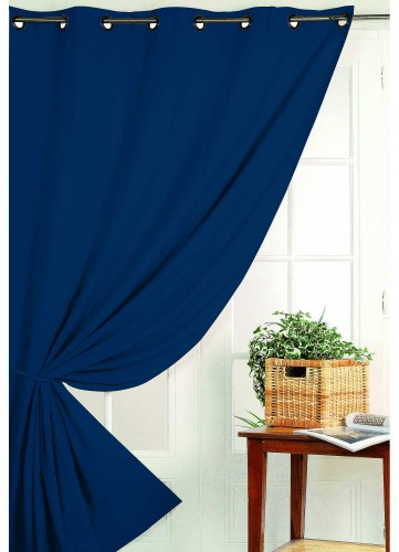 Rideau Occultant Non Feu M1 - Bleu Outremer - 240 x 260 cm