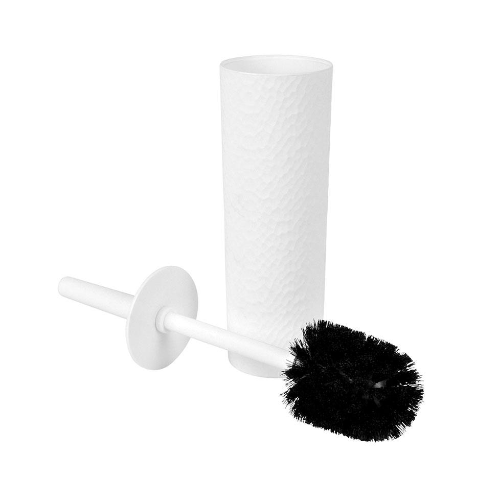 Brosse WC en Plastique Martelé (Blanc)