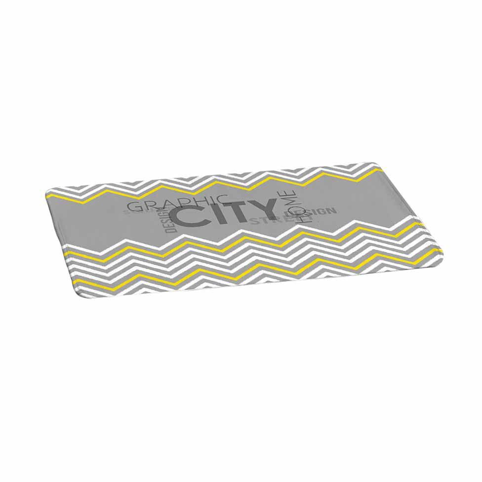 Tapis de bain en microfibre g om trik geometrik for Tapis salle de bain microfibre