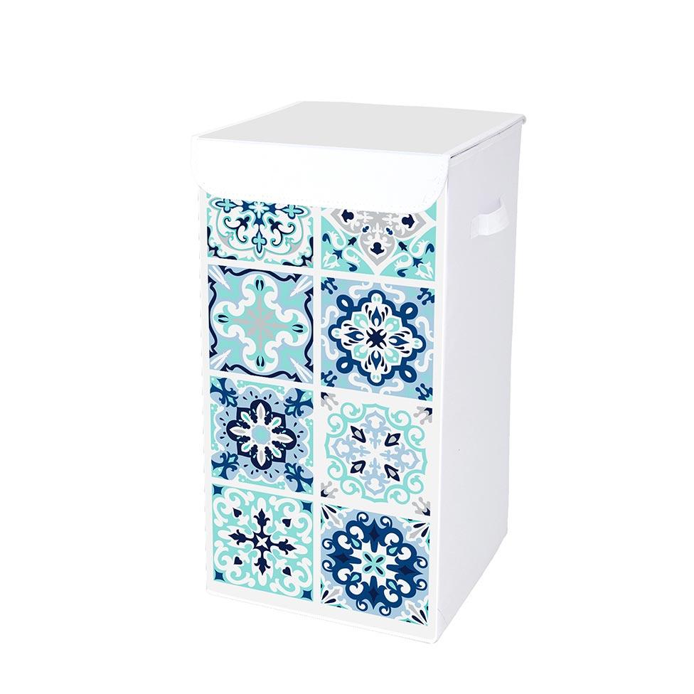 coffre linge en intiss 54l mosa que tiles. Black Bedroom Furniture Sets. Home Design Ideas