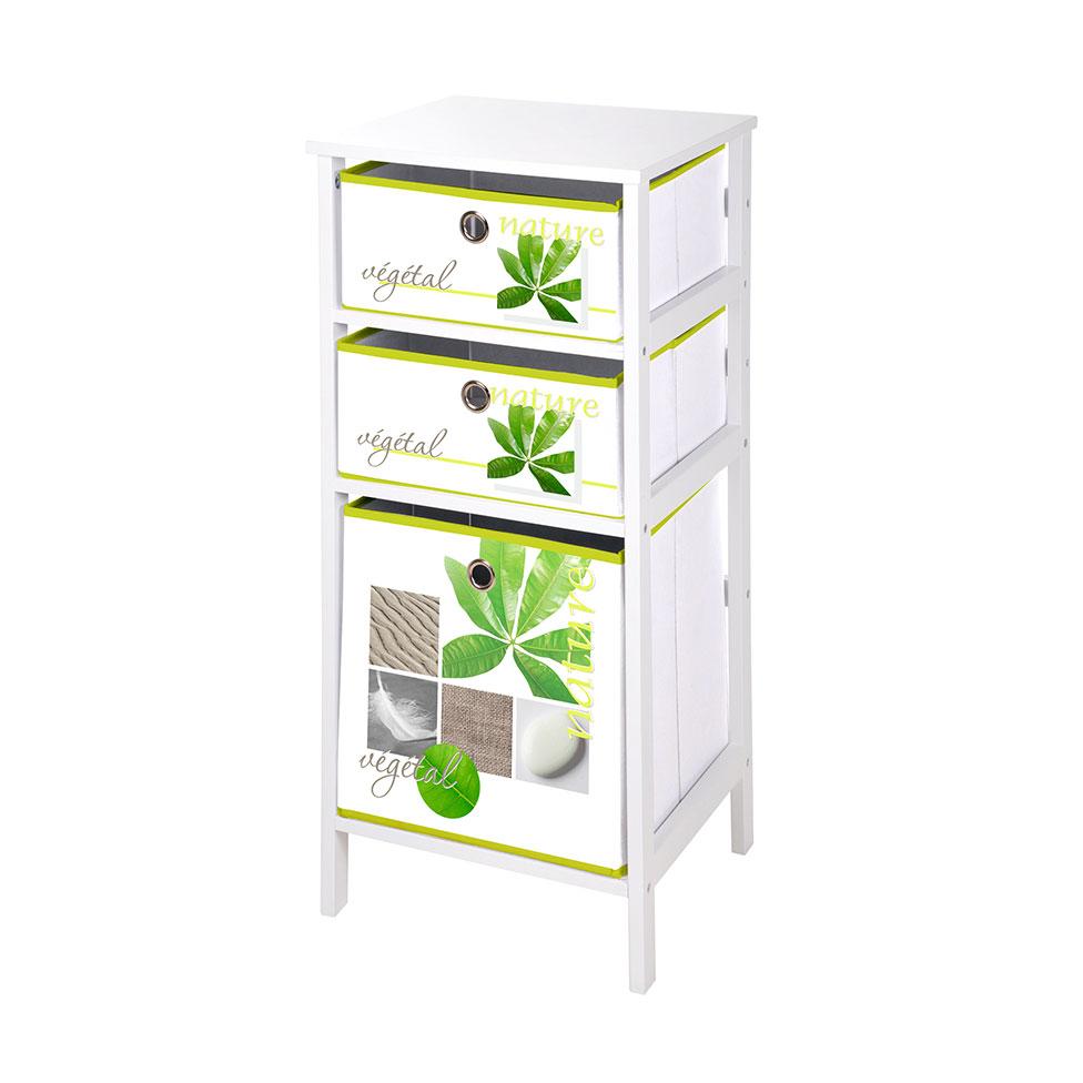 meuble en mdf 3 pani res en intiss v g tal vegetal homebain vente en ligne meubles de. Black Bedroom Furniture Sets. Home Design Ideas