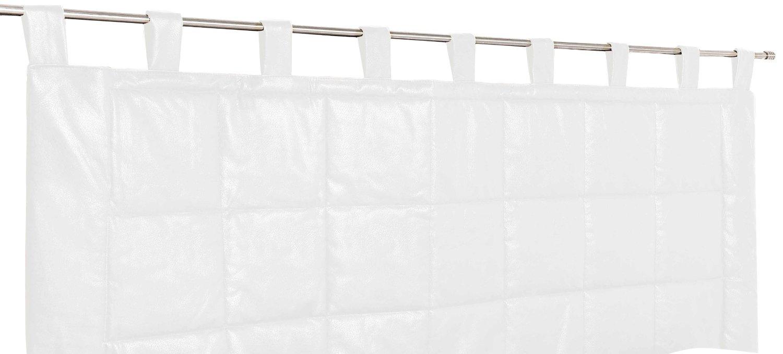 rideau t te de lit imitation cuir blanc noir marron. Black Bedroom Furniture Sets. Home Design Ideas