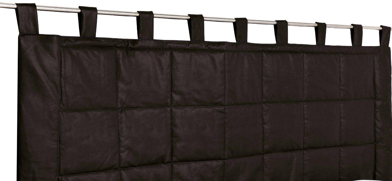 rideau t te de lit imitation cuir noir blanc marron. Black Bedroom Furniture Sets. Home Design Ideas