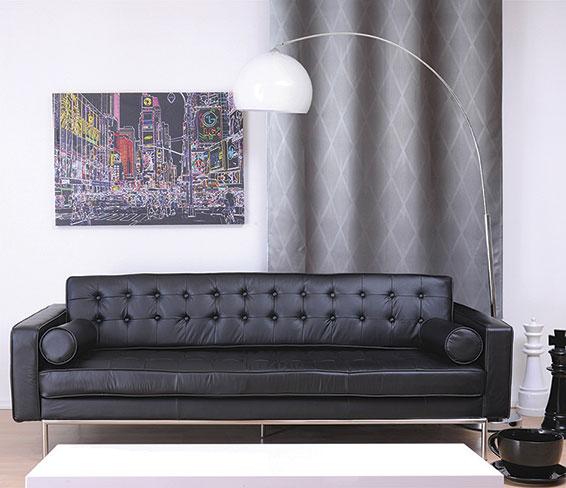 Rideau Occultant à Motifs Losange - Gris - 140 x 240 cm