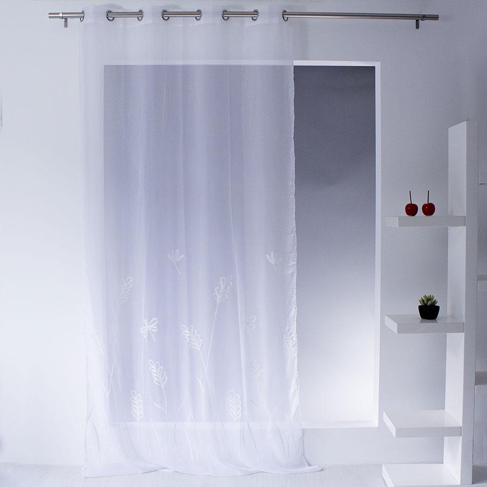 voilage brod uni et fleuri blanc vert bleu rouge bleu homemaison vente en ligne. Black Bedroom Furniture Sets. Home Design Ideas