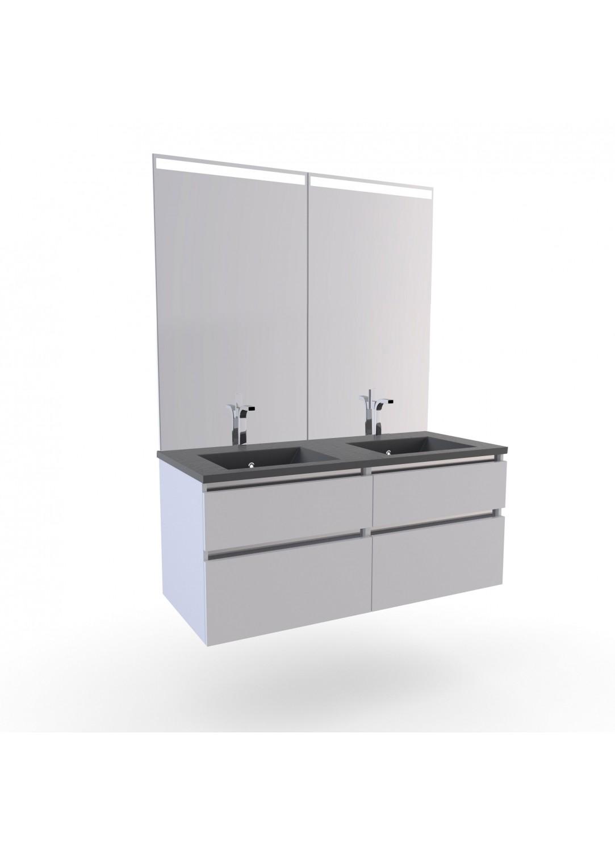 Meuble En Pvc Pour Salle De Bain ~ meuble salle de bain 2 vasques stone blanc homebain vente en
