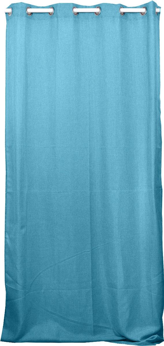 Rideau Uni avec Oeillets Ronds - Turquoise - 140 x 260 cm