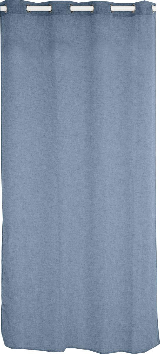Voilage Uni Aspect Lin (Bleu Jean)