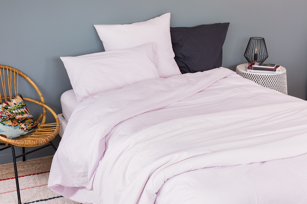 housse de couette unie en coton lav rose curry perle bleu galet liberty. Black Bedroom Furniture Sets. Home Design Ideas